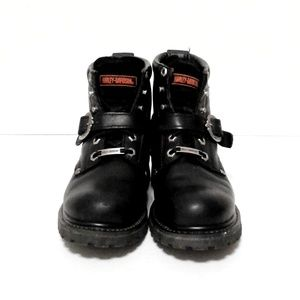Harley Davidson leather motorcycle riding boots